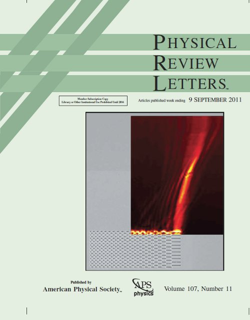 Cover of Physical Review Letter